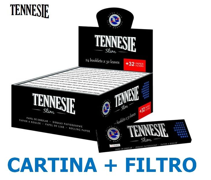 CARTINE TENNESIE KS SLIM 24pz + 24pz FILTRI CARTA - C40