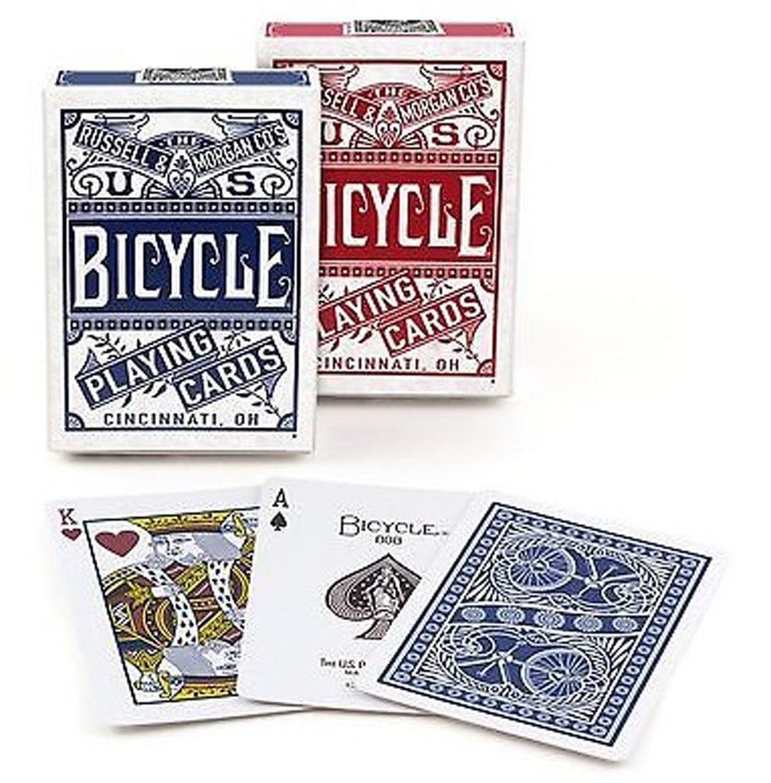 CARTE DA POKER BICYCLE 1pz CHAINLESS RED/BLU (VENDITA ACCOPPIATA)