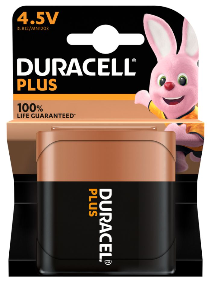 BATTERIE DURACELL MN1203 PIATTA 4.5v 1x 1pz PLUS POWER