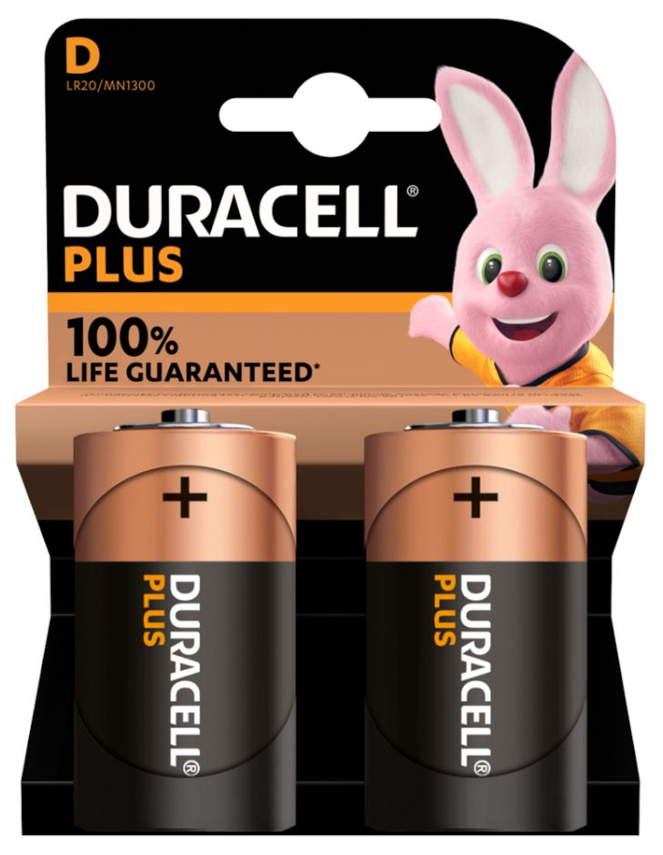 BATTERIE DURACELL MN1300 TORCIA 1.5v 2x 1pz PLUS POWER