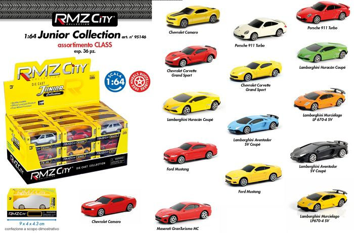 GIOCHI AUTO 1:64 RMZ CITY JUNIOR 1pz - EXPO (F) ASSORTITO (C36)