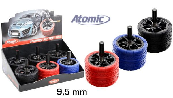 PORTACENERE DA TAVOLO ATOMIC METAL 1pz TIRE COLORI ASSORTITI