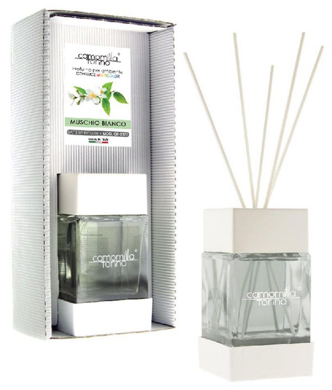 PROFUMATORE CUBOLED ESSENZA MUSCHIO BIANCO 200ML C/BASTONCINI
