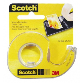 SCOTCH BIADESIVO 12mm X 6,3mt BIADESIVO SCOTCH  1x 12pz - 3611