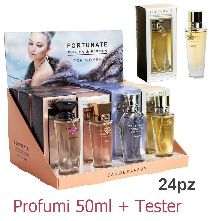 PROFUMO SOLE FORTUNATE 24pz DONNA 50ml + TESTER EXPO B