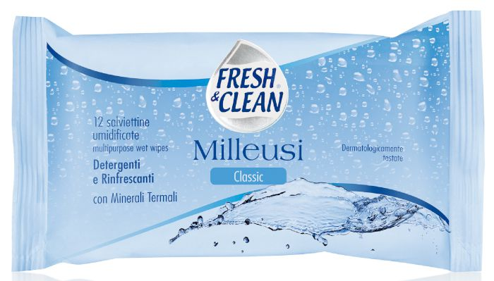 SALVIETTE FRESH CLEAN POCKET CLASSIC 12pz MILLEUSI