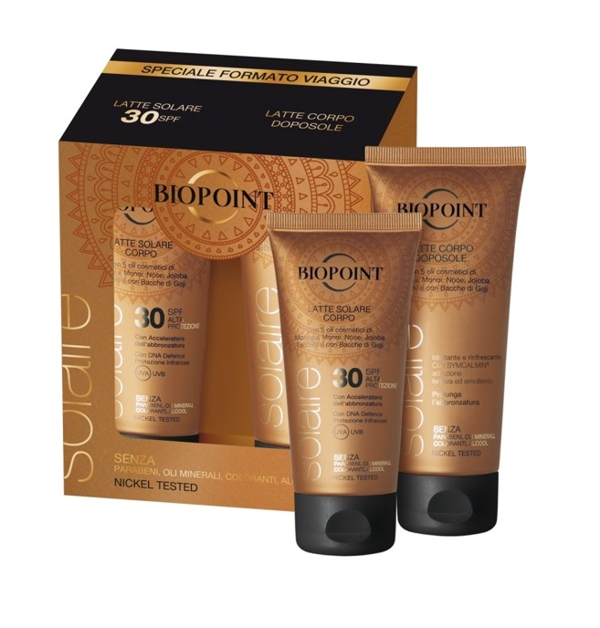 SOLARI BIOPOINT TRAVEL KIT LATTE 75ml FP30+DOPOSOLE 100ml