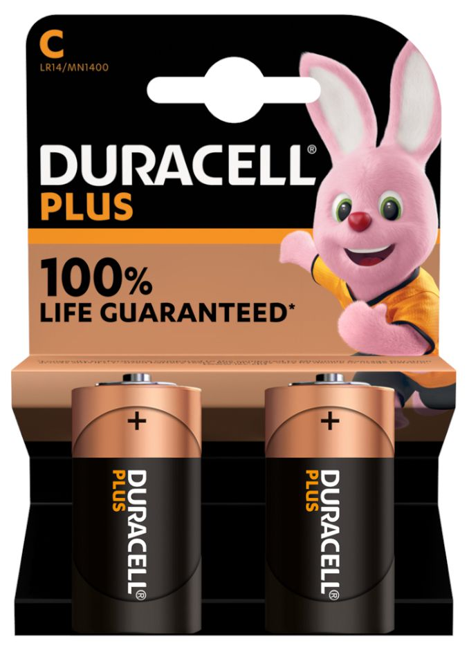 BATTERIE DURACELL MN1400 1/2 TORCIA 1.5v 2x 1pz PLUS POWER