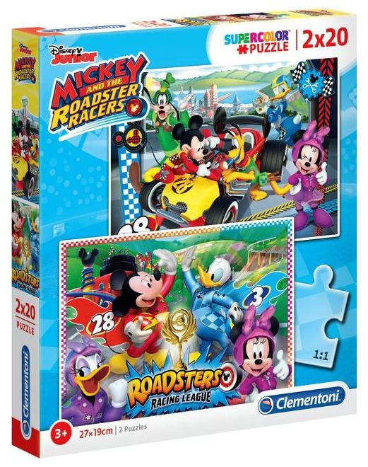GIOCHI PUZZLE 2X20pz MICKEY AND THE ROADSTER