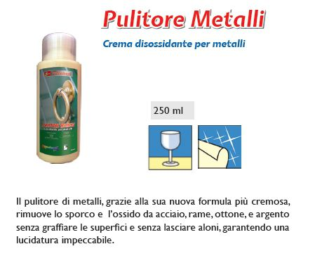 DETERGENTE PULITORE METALLI 1pz 250ml - SUPER5